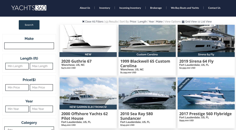 Yacht Brokerage Listings